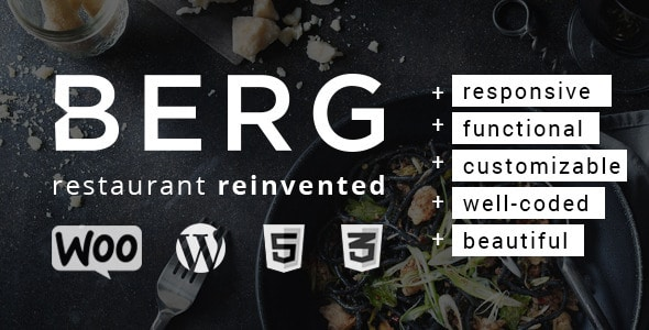 Berg - Plantillas WordPress para restaurantes