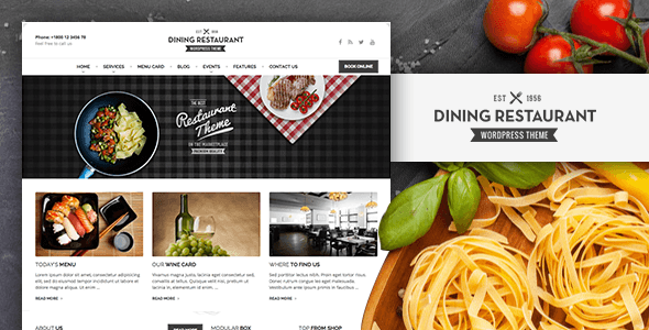 Dining Restaurant - Plantillas WordPress para restaurantes