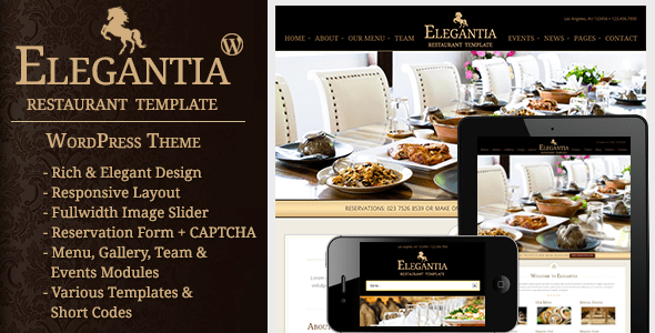 Elegantia - Plantillas WordPress para restaurantes