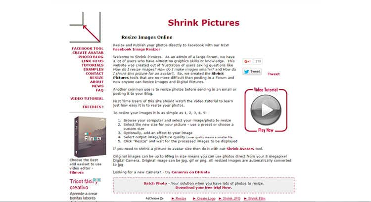 Comprimir fotos con Shrink Pictures