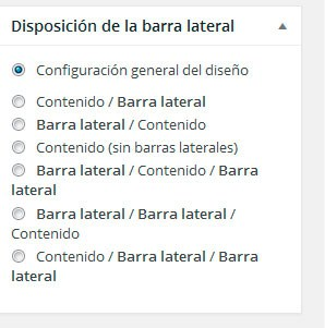 Disposición de la barra lateral en GeneratePress
