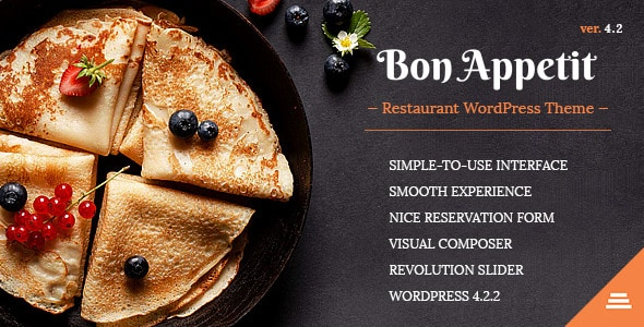 Bon Appetit - Plantillas WordPress para restaurantes