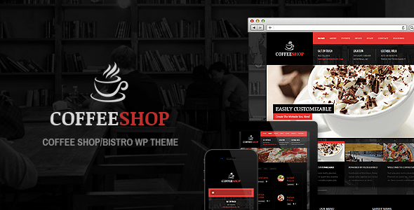 Coffee Shop - Plantillas WordPress para restaurantes
