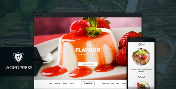 The Flavour - Plantillas WordPress para restaurantes