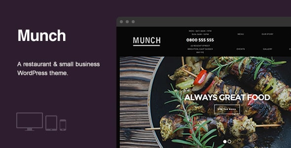 Munch - Plantillas WordPress para restaurantes