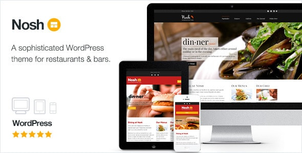 Nosh - Plantillas WordPress para restaurantes