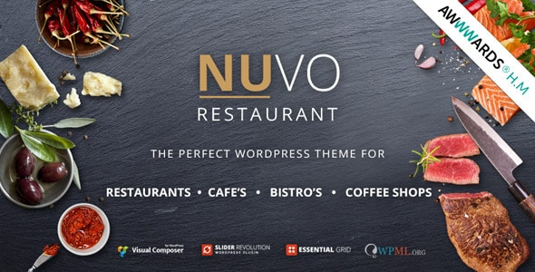 Nuvo - Plantillas WordPress para restaurantes