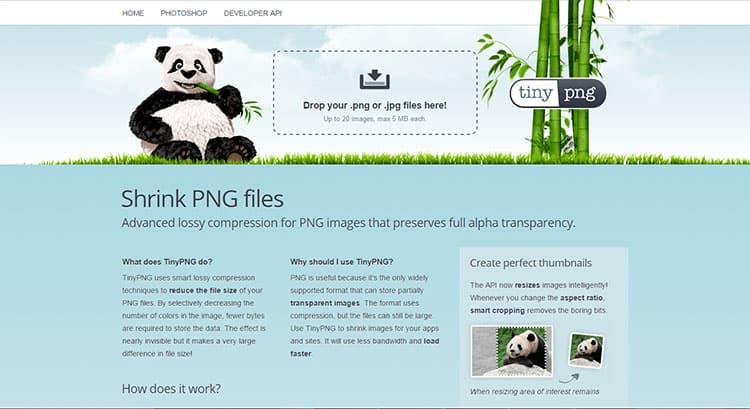 Reducir el tamaño de fotos con TinyPNG