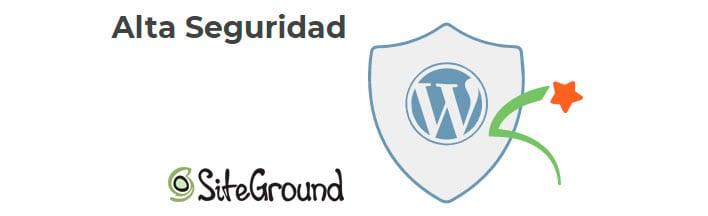Alta seguridad en el hosting web de Siteground.