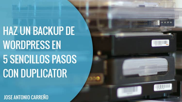 Backup Wordpress - Plugin Duplicator