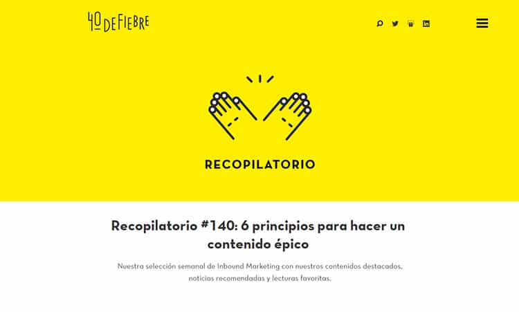 Blogs de marketing - 40 de fiebre