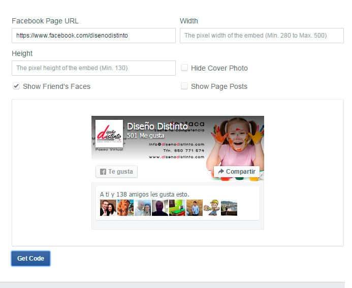 Cambiar Facebook Like Box 2