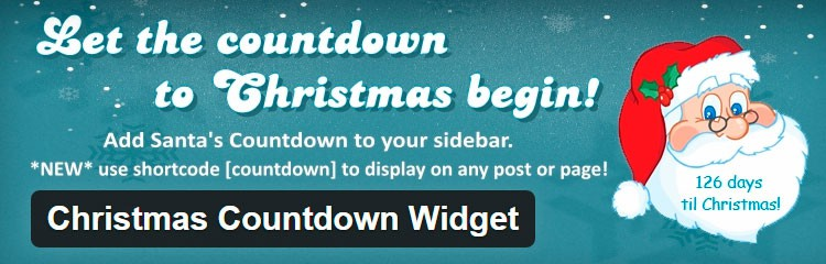 Christmas Countdown - Plugins WordPress para Navidad