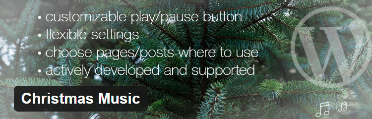 Christmas Music - Plugins WordPress para Navidad