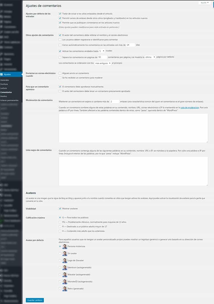 Cómo configurar los ajustes de comentarios de tu blog en WordPress