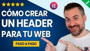 Cómo crear un header con Elementor (o cabecera)