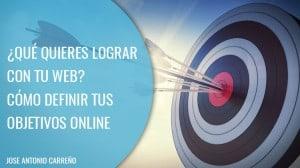 Como definir objetivos online