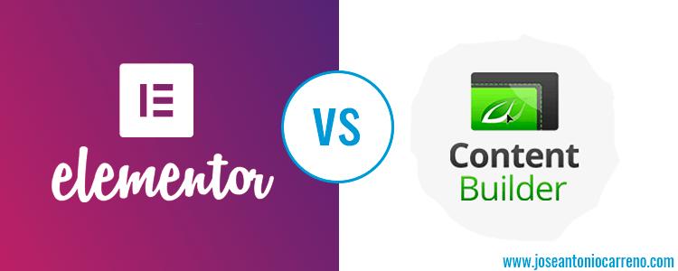 Comparativa entre Elementor Page Builder y Thrive Content Builder
