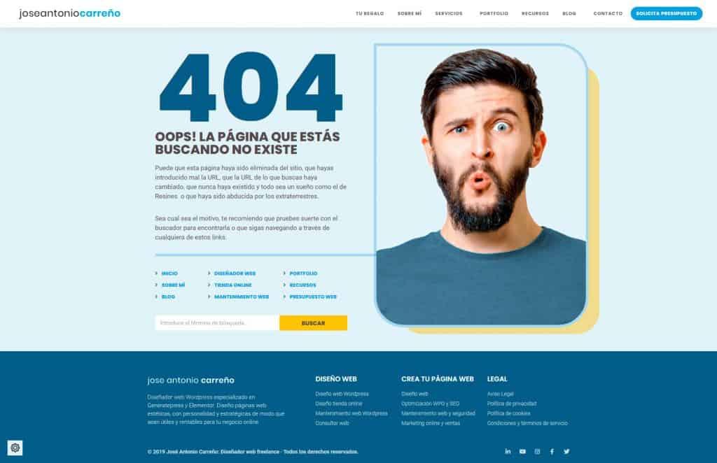 Crear un tema en WordPress: página 404 con Elementor Theme Builder.
