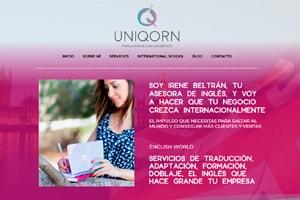 Diseñador web WordPress del negocio online Beuniqorn.