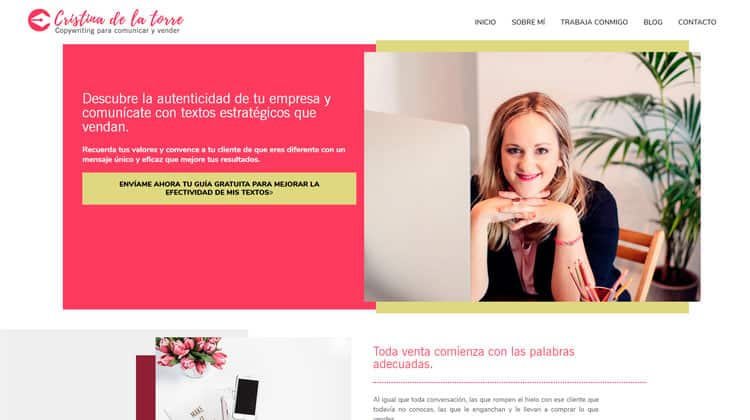 Diseñador web WordPress de Cristina de la Torre.
