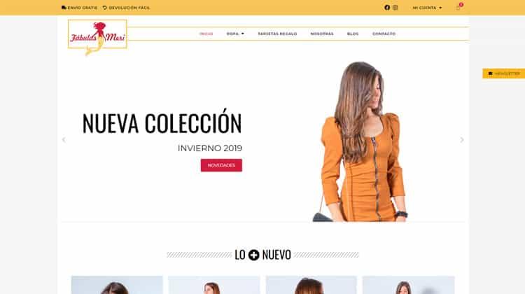 Diseño de tiendas online de ropa de mujer.