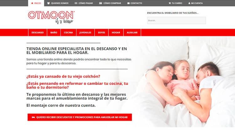 Diseño de tiendas online para el cliente OTMoon