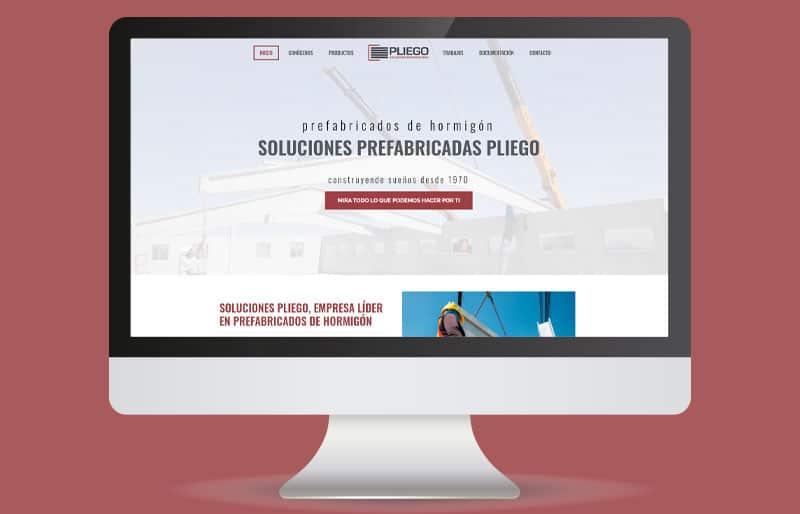 Portfolio de diseño web: trabajo realizado para Soluciones Pliego