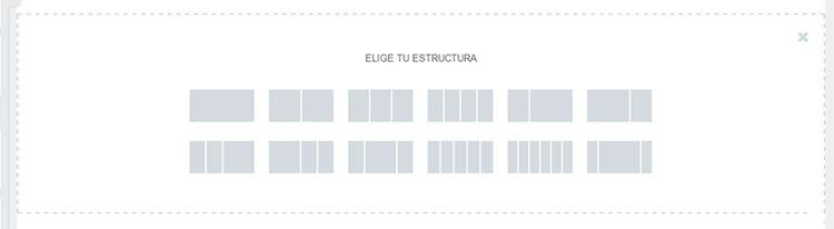 Estructuras para secciones en Elementor Page Builder