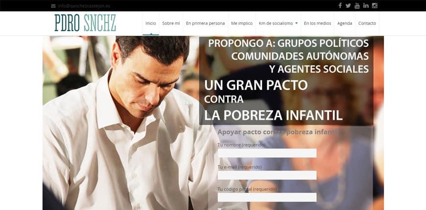 Famosos que usan WordPress - Pedro Sánchez