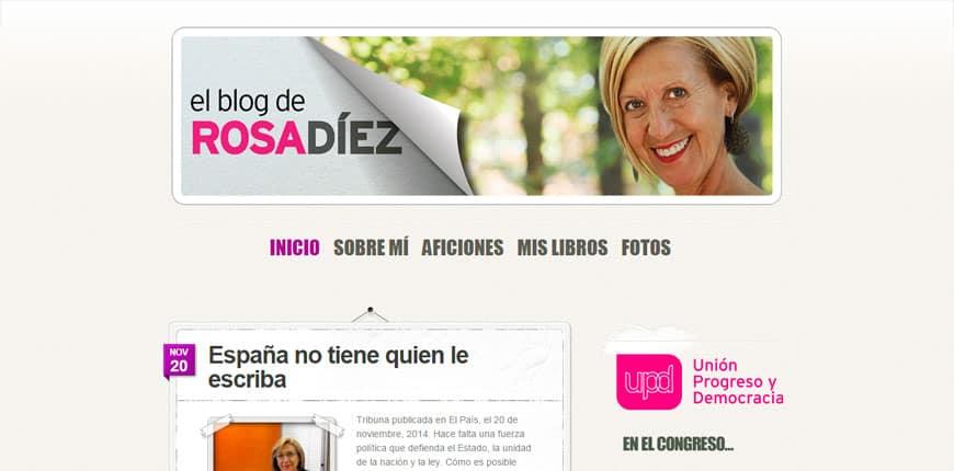 Famosos que usan WordPress - Rosa Díez
