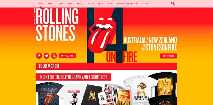 Famosos que usan WordPress - Rolling Stones