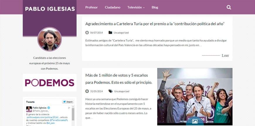 Famosos que usan WordPress - Pablo Iglesias