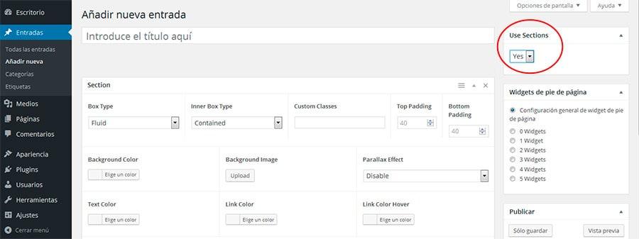 Generar secciones de ancho completo en GeneratePress