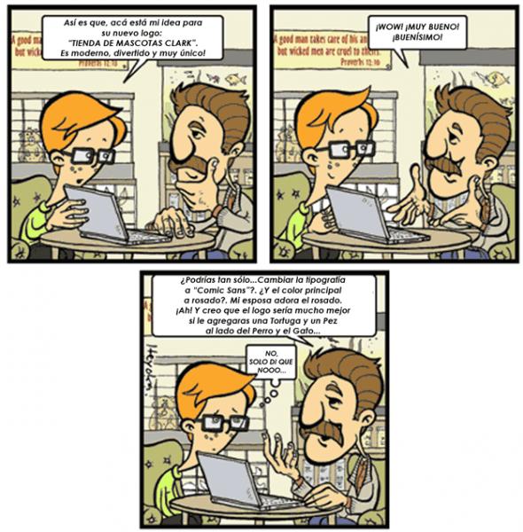 Humor Gráfico sobre diseño web y grafico 8