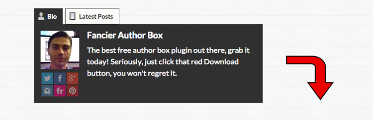 Los mejores plugins para WordPress: Fancier Author Box.