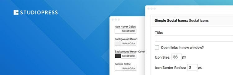 Los mejores plugins para WordPress: Simple social icons.