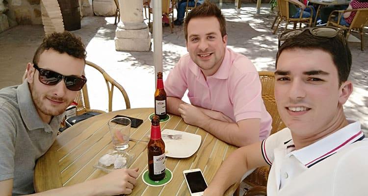 Con Max Camuñas y Alvaro Mariscal