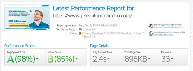Mejor tema WordPress en cuanto a rendimiento y WPO.