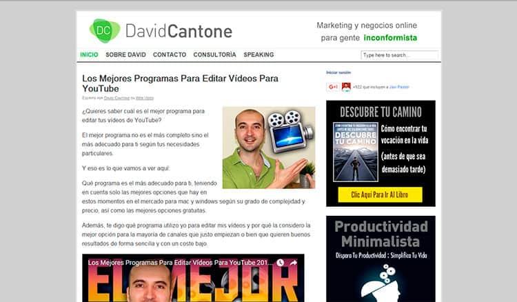 Mejores blogs - David Cantone