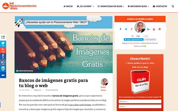 Mejores blogs de posicionamiento web - Rubén Alonso