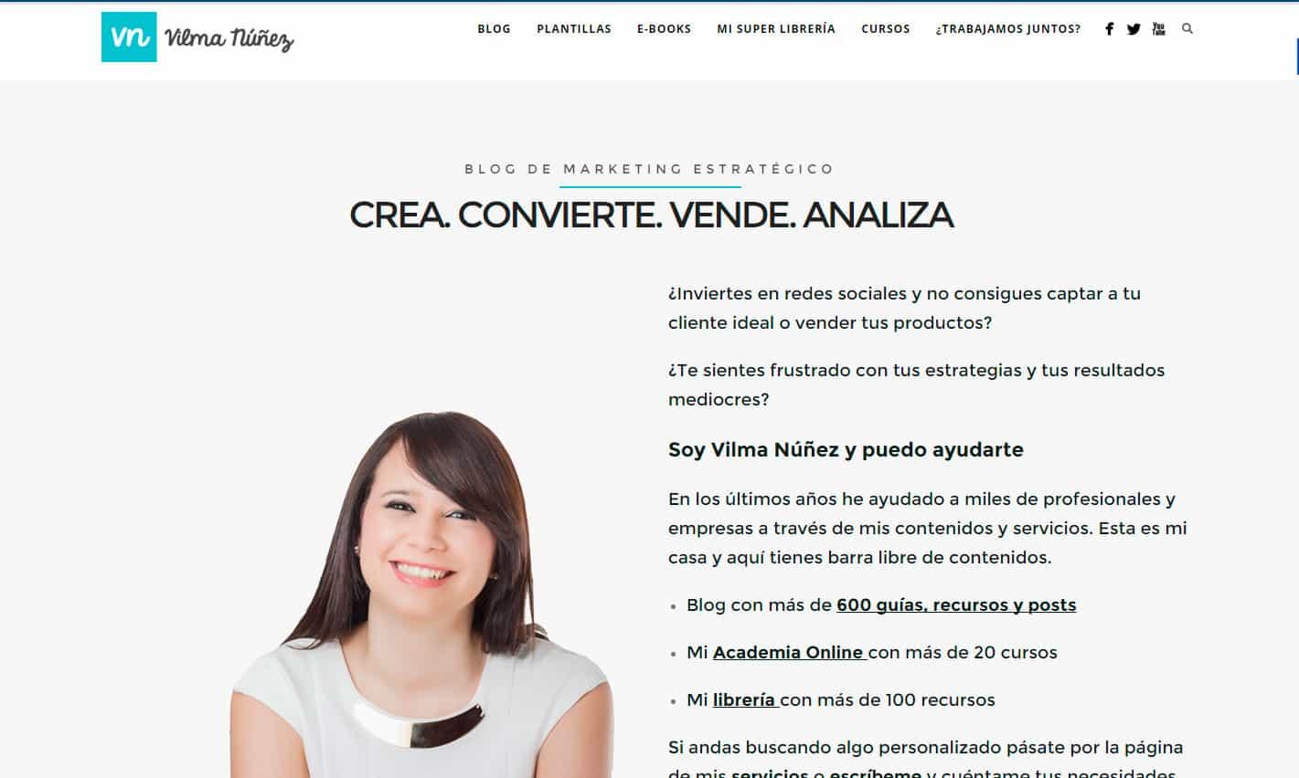 Vilma Nuñez - Mejores blogs sobre cómo hacer crecer un negocio