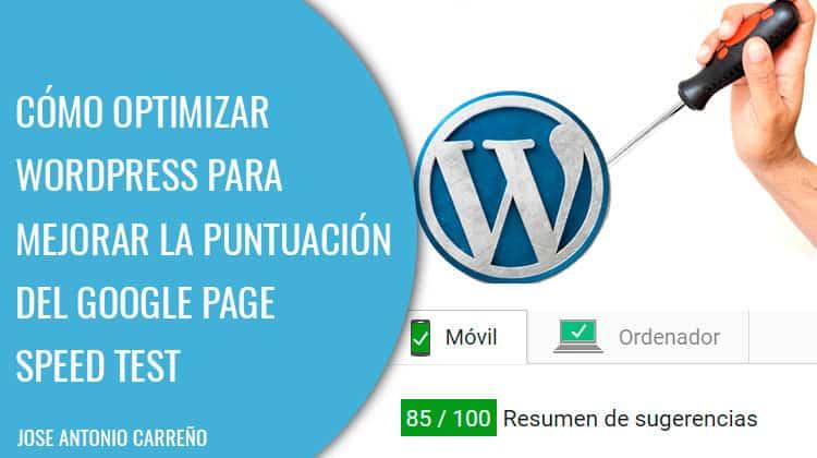 Optimizar Wordpress para Google Page speed test