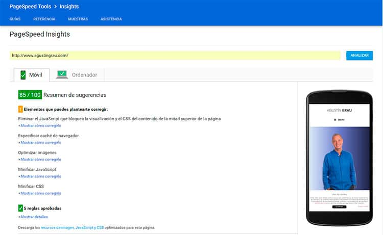 Optimizar WordPress para GoogleSpeed Insights