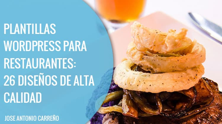 Plantillas Wordpress para restaurantes y hostelería