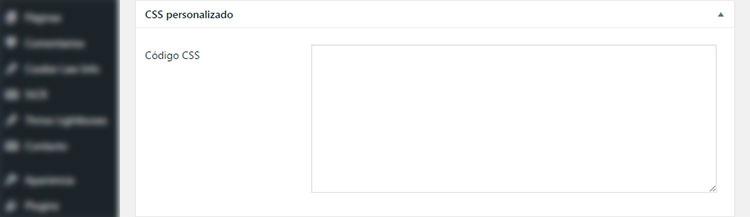 Plugin Maintenance. Opción de CSS personalizado.