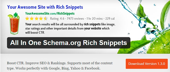 Plugins SEO para WordPress: All in one schema rich snippets.