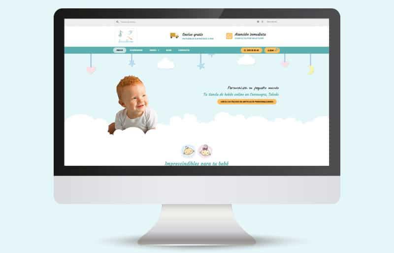 Diseño web realizado para Arrullitos Bebe