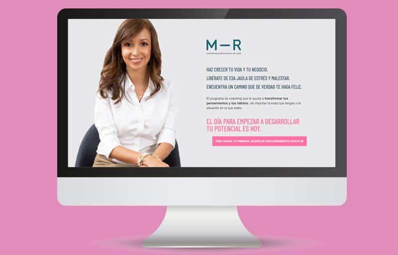 Portafolio web: trabajo realizado para Marcela Riveros