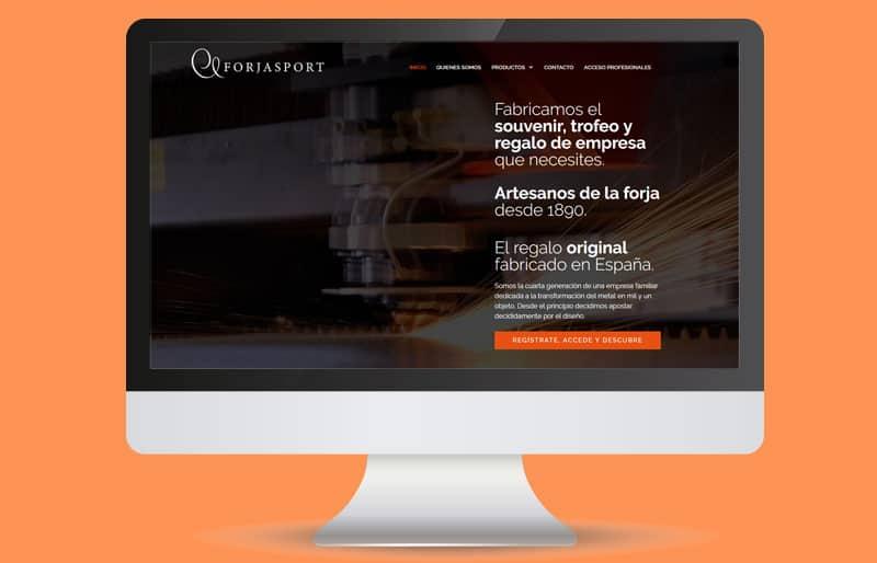 Portafolio web: trabajo realizado para Forjasport